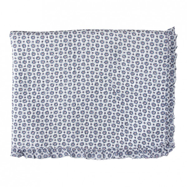 GreenGate Quilt / Bed Cover Erin Petit Blue w/frill