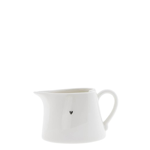 Bastion Collections Sauce Jug / Heart in Black