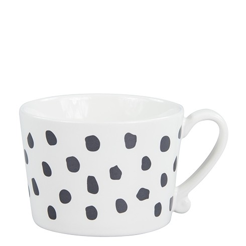 Bastion Collections Mug White/Big Dots in Black
