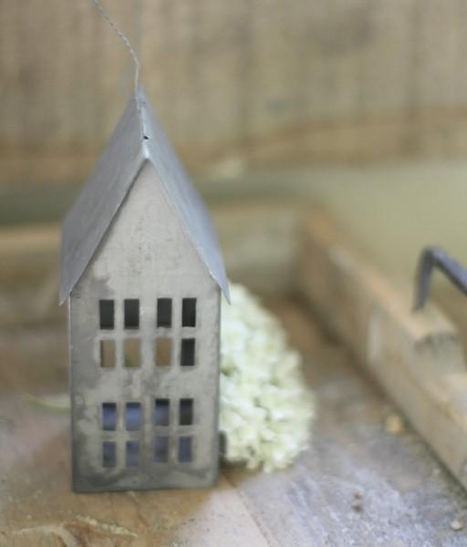 """Haus aus Metall """"Zink"""", mittel (13 cm)"""