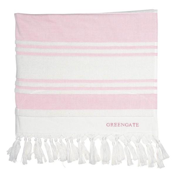 GreenGate Handtuch Hammam Stripe Pale Pink, groß