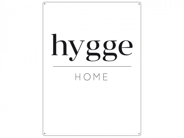 "Metallschild ""HYGGE Home"""