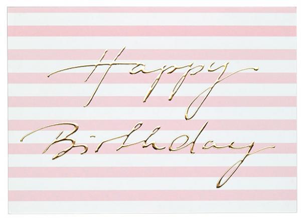 Krima & Isa Postkarte Happy Birthday Gold