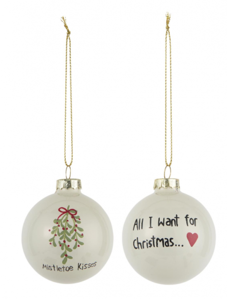 Ib Laursen Weihnachtskugel All I want/Mistletoe
