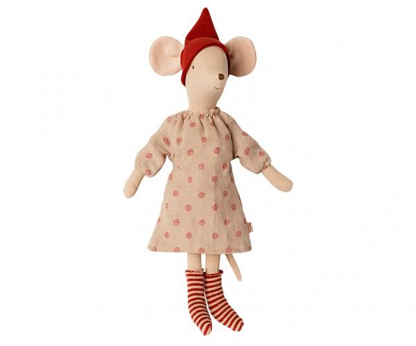 Maileg, Maus Medium Weihnachtsmaus, Girl (Tupfenkleid)
