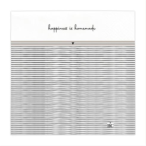 Bastion Collections Papierservietten Titane/Happiness is home