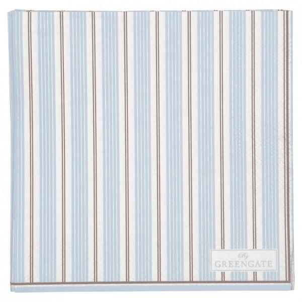 GreenGate Kleine Papierserviette Tova Pale Blue