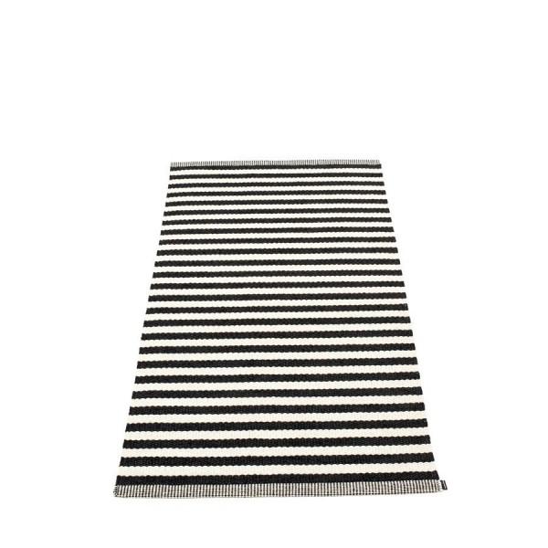 Pappelina Kunststoffteppich DUO, black - vanilla, 160 cm