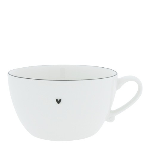 Bastion Collections Suppentasse / Soup Bowl White with Black Edge