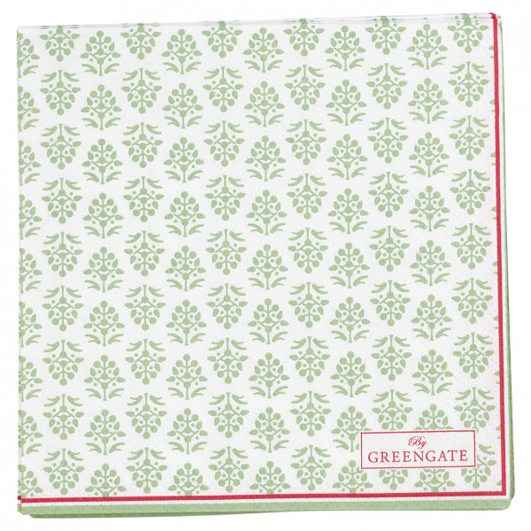 GreenGate Kleine Papierserviette Ashley Green
