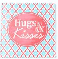 """Magnet, """"Hugs & Kisses"""""""