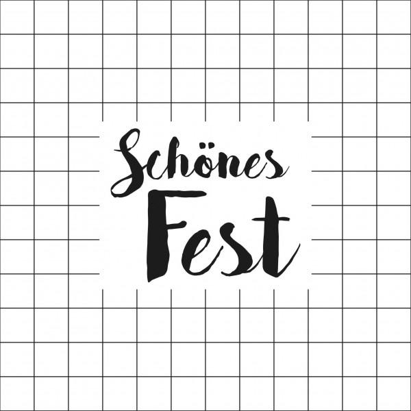 """Räder Papierserviette """"Schönes Fest"""""""