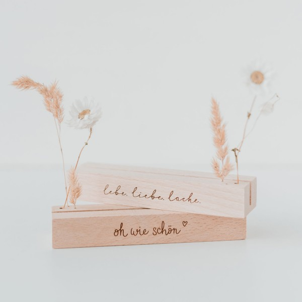 Eulenschnitt Postkartenständer und Trockenblumenständer, im 2er Set, 12 cm