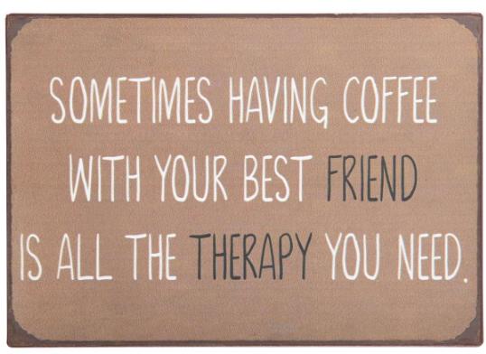 "Ib Laursen Metallschild ""Sometimes having coffee"""