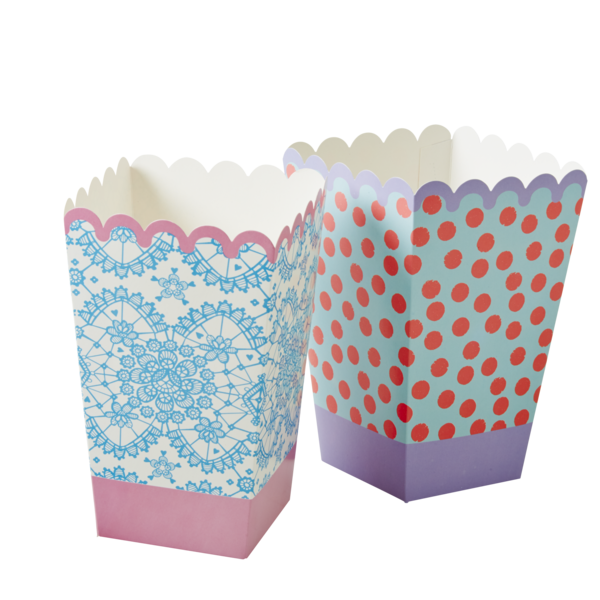 rice Popcorn Buckets / Popcorn Eimer, 6 Stück