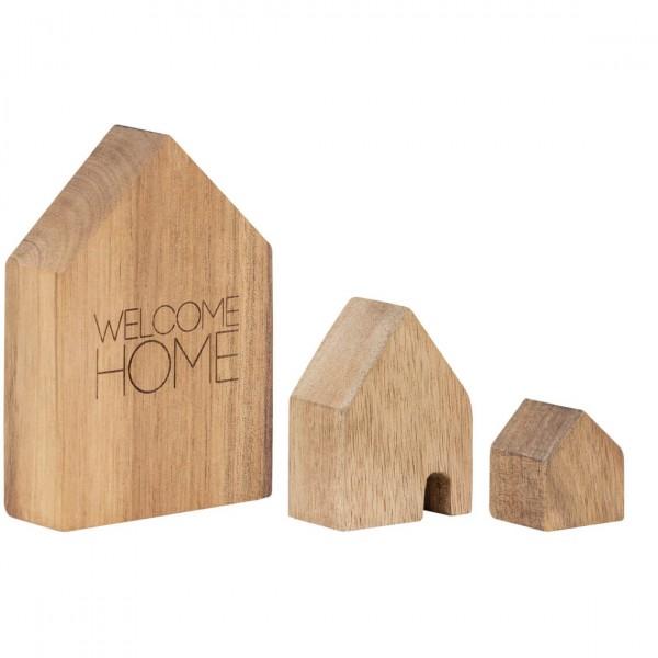 räder Holzhäuschen Welcome Home, 3er Set