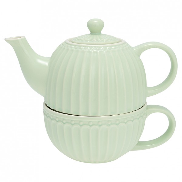 Greengate Tea for One, Alice Pale Green