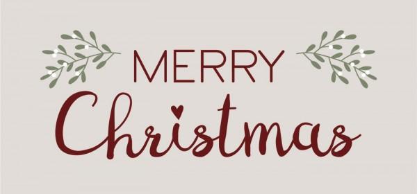 Ib Laursen Metallschild, Merry Christmas, Blätter