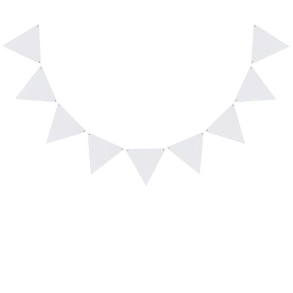 Eulenschnitt Holzanhänger WimpelWeiß, 10er Set