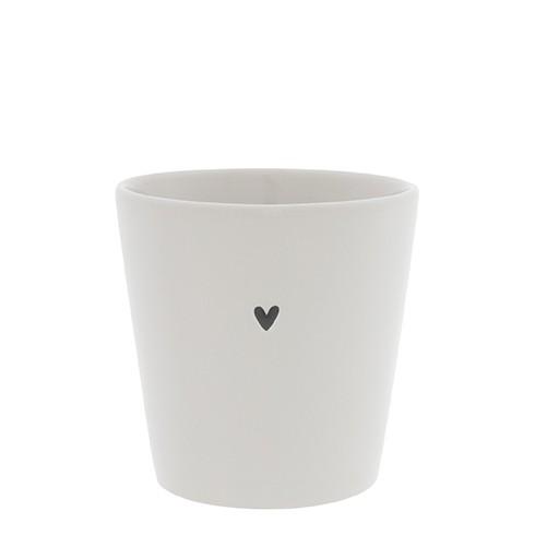Bastion Collections Becher / Mug Small Heart, Black