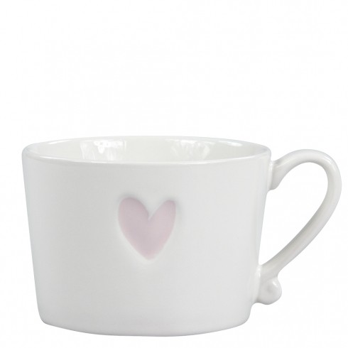 Bastion Collections Mug White/Heart in Rose