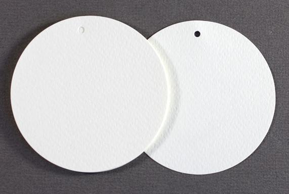 Perlenfischer Geschenkanhänger / Tags 75 mm, 10 Stück, cremeweiß