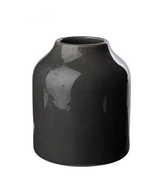Blumenvase Keramik Anthrazit, klein