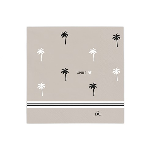 Bastion Collections Kleine Papierservietten Palm Tree/Smile