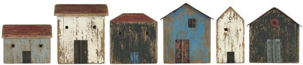 Ib Laursen Holzhäuschen mit Tür, 6er Set