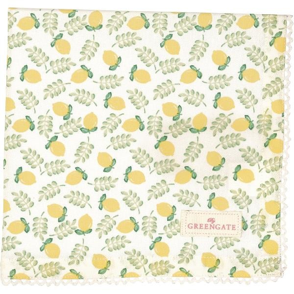 GreenGate Stoffserviette Limona petit white
