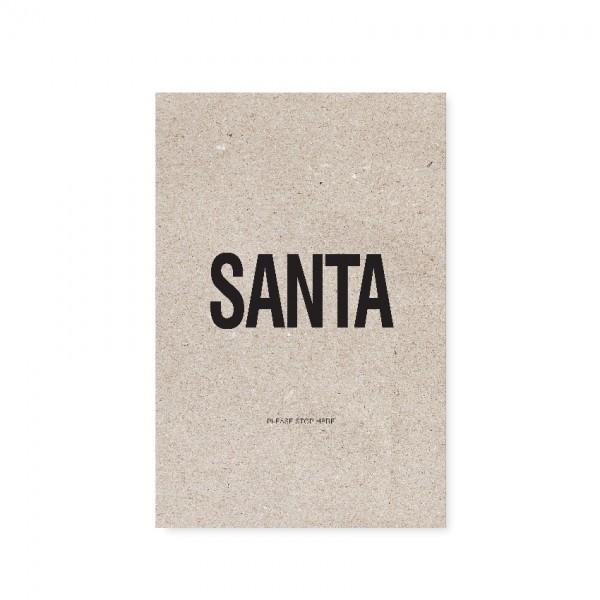 """Tafelgut, Karte """"Santa"""""""
