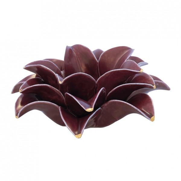 Greengate Kerzenhalter Flower w/gold plum medium