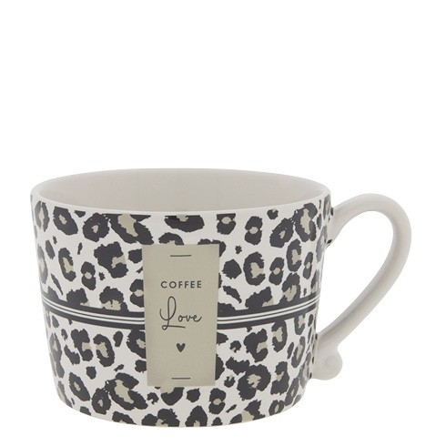 Bastion Collections Cup White / Leopard Coffee Love