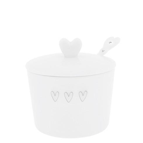 Bastion Collections Sugar Pot / Zuckerdose mit Löffel, grau