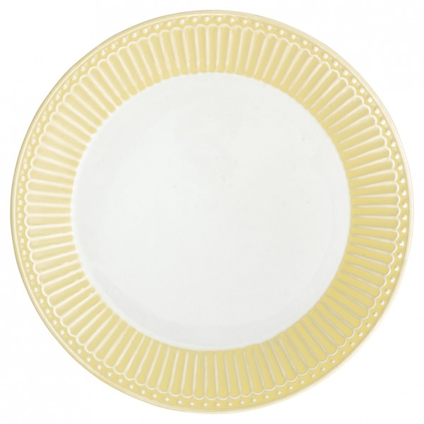 GreenGate Teller / Plate, Alice Pale Yellow