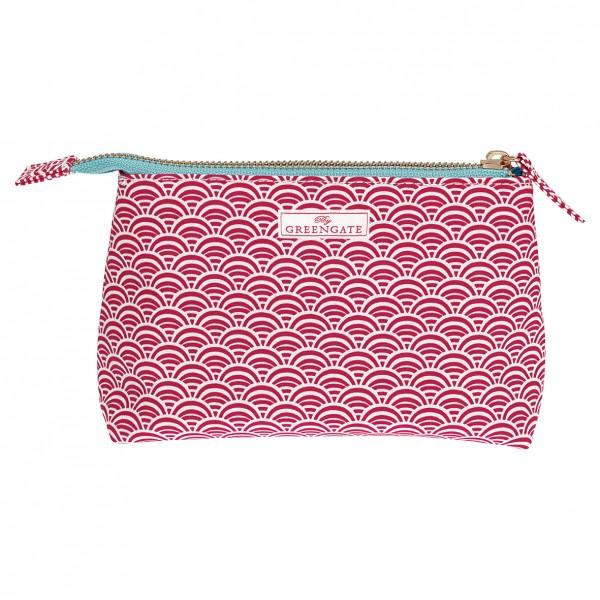 Greengate Kosmetiktasche Cosmetic Bag Nancy Red, groß