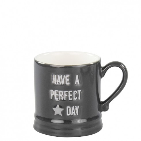 Bastion Collections Tasse / Mug Small Have a Perfect Day, schwarz