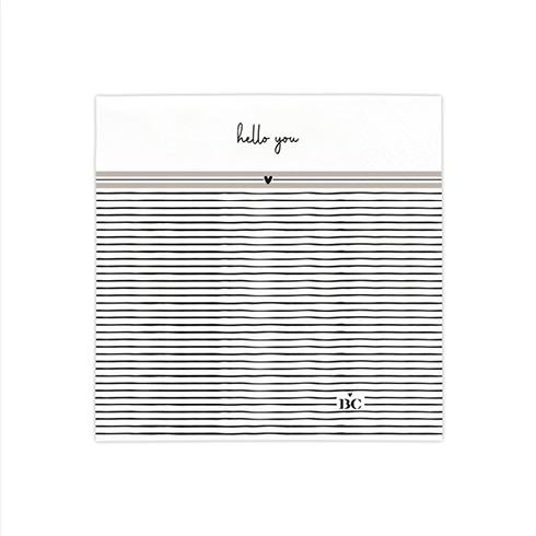 Bastion Collections Kleine Papierservietten Stripes/Hello You