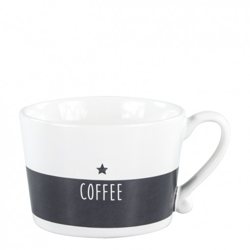 Bastion Collections Mug White/Black Coffee in White