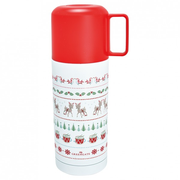 GreenGate Thermosflasche Bambi White, 350 ml