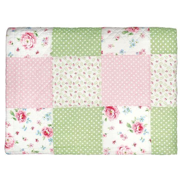 GreenGate Kleiner Quilt / Bed Cover Meryl mega white