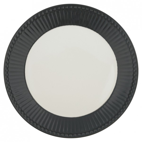 GreenGate Teller / Plate, Alice Dark Grey