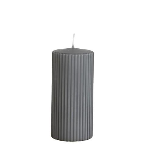 Affari Kerze Rill Grau, groß