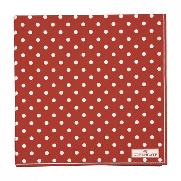 GreenGate Papierserviette Spot Red