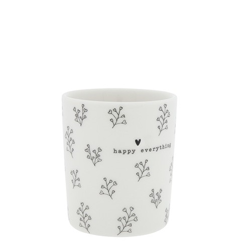 Bastion Collections Becher / Mug Flower Hearts, Black, SS21
