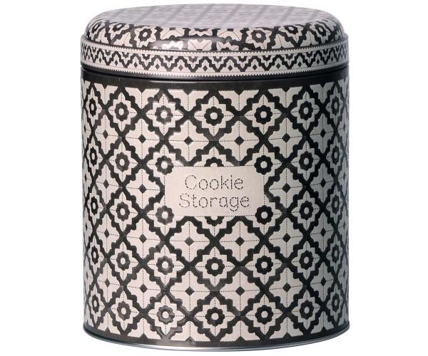 Maileg Vorratsdose Cookie Storage, dunkelgrau-weiß