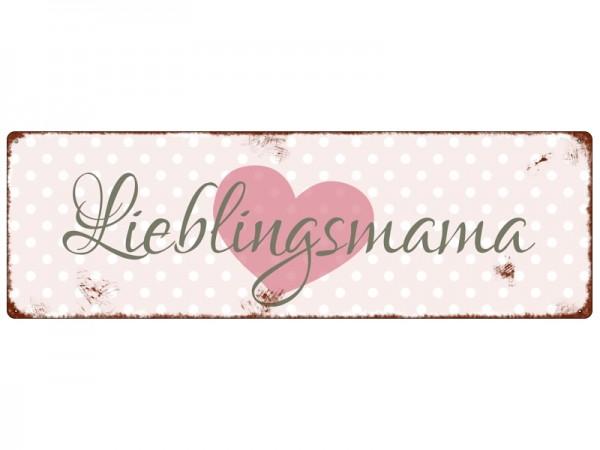 "Metallschild ""Lieblingsmama"""