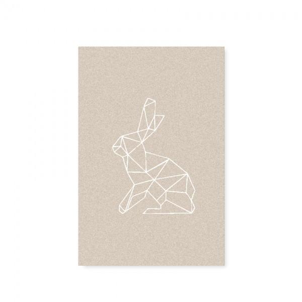 """Tafelgut, Karte """"Rabbit"""" (Zeichnung)"""