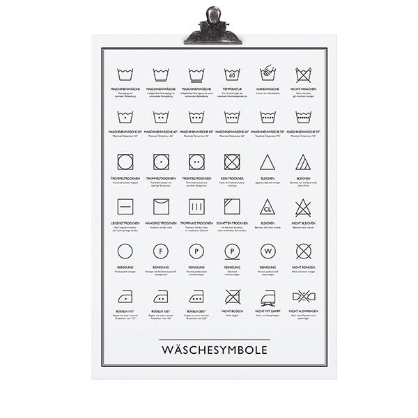 """Tafelgut Poster """"Wäschesymbole"""""""