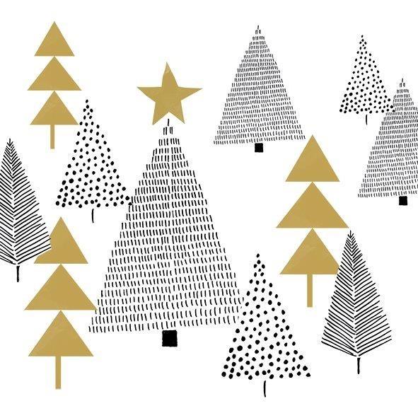 """Kleine Papierservietten """"Sparkling Tree"""""""
